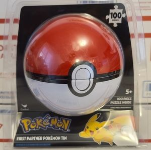 Pokemon 100 piece puzzle collectors tin pokeball